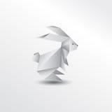 Conejo de Origami Fotografía de archivo
