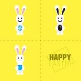Conejo de Pascua con el huevo colorido Ilustración del vector Fotos de archivo libres de regalías