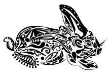 Conejo del Año Nuevo stock de ilustración
