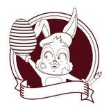 Conejo del artista con el huevo de Pascua libre illustration
