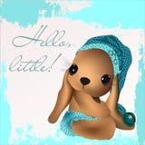 Conejo del bebé en pantalones y el casquillo para dormir Para el muchacho Imagen de archivo libre de regalías