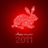 Conejo del copo de nieve Foto de archivo libre de regalías
