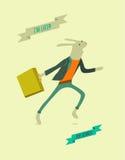 Conejo divertido corriente de la historieta Ilustración del vector Imagenes de archivo