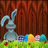 Conejo en la madera Imagenes de archivo