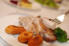 Conejo en salsa picante Imágenes de archivo libres de regalías