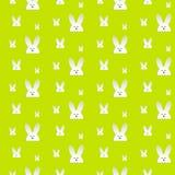 Conejo feliz Bunny Green Seamless Background de Pascua Foto de archivo libre de regalías