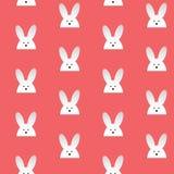 Conejo feliz Bunny Pink Seamless Background de Pascua Imágenes de archivo libres de regalías
