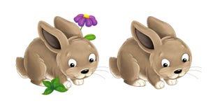 Conejo feliz de la historieta - estilo pintado bueno para el cuento de hadas Foto de archivo libre de regalías