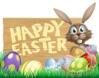 Conejo feliz de Pascua stock de ilustración