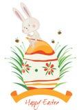 Conejo feliz de Pascua Imagen de archivo libre de regalías
