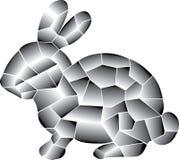 Conejo gris Colorido linear de los elementos libre illustration