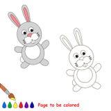 Conejo gris de la historieta que se coloreará Fotografía de archivo