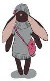 Conejo gris oscuro Fotos de archivo libres de regalías