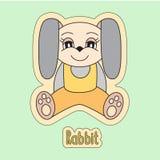 Conejo, liebre de la historieta, símbolo del horóscopo chino 2023 años stock de ilustración