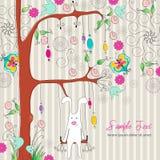 Conejo lindo de Pascua stock de ilustración