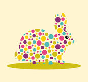 Conejo manchado Fotografía de archivo libre de regalías