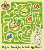 Conejo Maze Game de Pascua Imagen de archivo