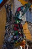conejo metálico en Oporto imagen de archivo