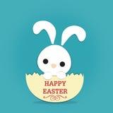Conejo pascua y cáscara de huevo Fotografía de archivo