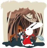 Conejo Pasillo en el país de las maravillas stock de ilustración