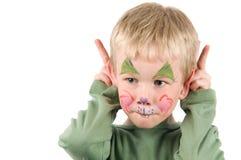 Conejo pintado cara Foto de archivo libre de regalías