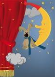 Conejo que se sienta en la luna Imagen de archivo libre de regalías