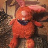 Conejo suave del juguete foto de archivo