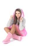 Conejo vestido hembra linda Fotos de archivo libres de regalías