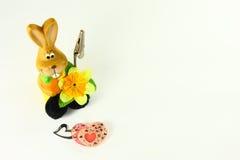 Conejo y corazones Imagen de archivo libre de regalías