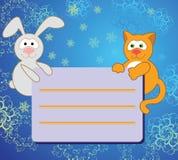 Conejo y gato Imagen de archivo