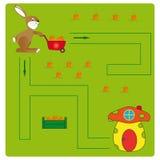 Conejo y hogar Imagen de archivo libre de regalías