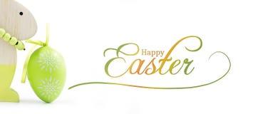 Conejo y huevo Imagen de archivo libre de regalías