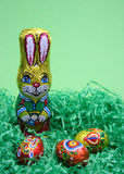 Conejo y huevos dulces Fotografía de archivo libre de regalías