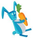 Conejo y zanahoria Imagenes de archivo