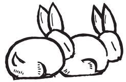 Conejos de la historieta Imágenes de archivo libres de regalías