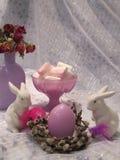 Conejos del bebé de Pascua Fotografía de archivo