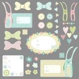 Conejos divertidos fijados Imágenes de archivo libres de regalías