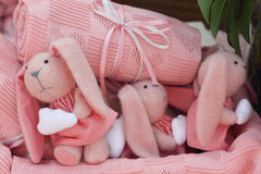 Conejos rosados Foto de archivo libre de regalías