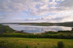 Conemara landscape. View of a clifden bay and islands Royalty Free Stock Photography