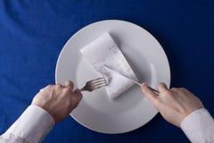 Conept, custos do restaurante fatura custos Imagens de Stock