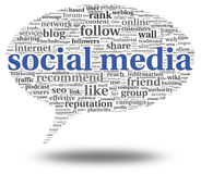 Conept social de media en nuage de tags de mot Photo libre de droits