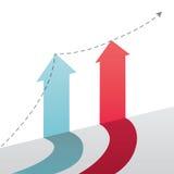Conept van de persoonlijke groei. stock illustratie