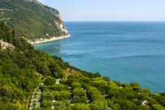 Conero (Ancona) - la costa Fotos de archivo