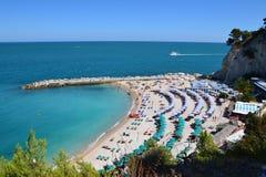 Conero plaża, Włochy Obrazy Stock