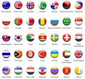 Ícones 02 da bandeira do mundo Imagem de Stock