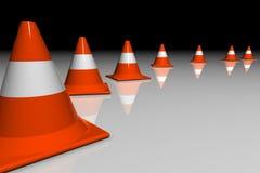 cones 3D ilustração do vetor