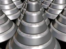 cones 3D-Urban metálicos Imagem de Stock
