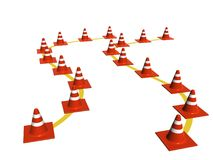 Cones. Traffic Cones Royalty Free Stock Photos