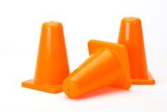 Cones alaranjados do tráfego Foto de Stock