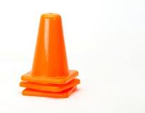 Cones alaranjados do tráfego Fotos de Stock Royalty Free